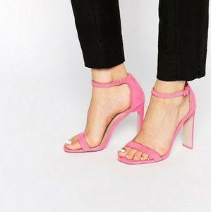 ASOS Pink Heeled Sandals